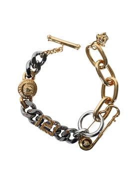 Pin Detail Chain Bracelet