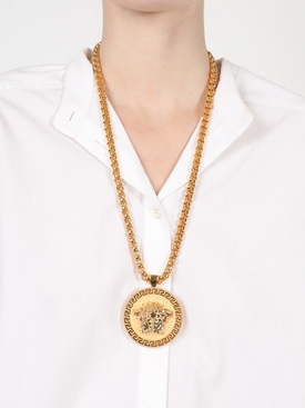 Gold-tone Medusa Necklace