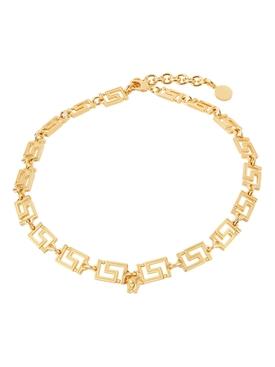 Gold-tone Greca Chain Necklace