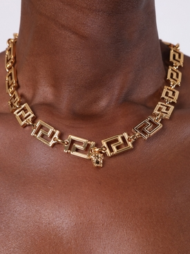 Gold-tone Greca Chain Necklace