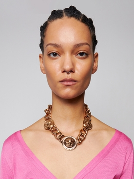 ICONIC GOLD-TONE MEDUSA CHAIN NECKLACE