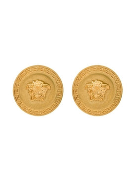 Gold-tone Medusa Stud Earrings
