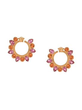 Versace - Embellished Medusa Hoop Earrings - Women