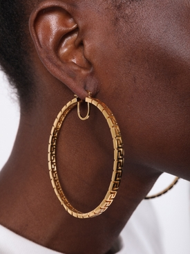 Greca Hoop Earrings
