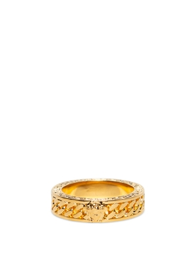 GOLD-TONE CHAINED MEDUSA RING