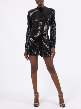 Black sequined romper