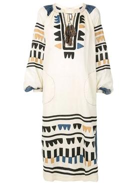 Fiji midi linen dress