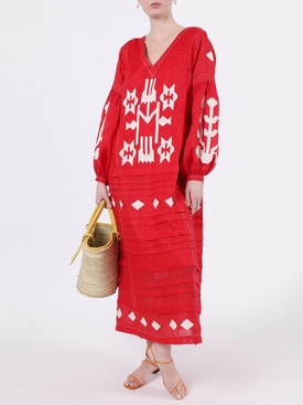 Red Neptune Midi Dress