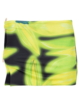 Double Ring Mini Skirt Yellow Aura Orchid