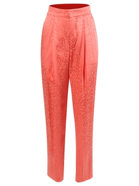 Coral Print Trousers