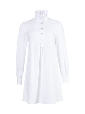 Alexachung - White Frill Shirt Dress - Women