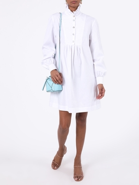 White frill shirt dress