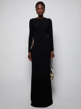 Black cut out long dress