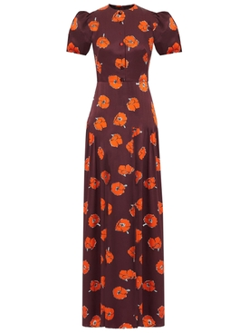 The confessional floral silk max dress