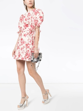 Red Floral Wrapsody Mini Dress