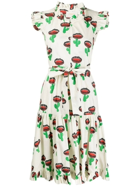 La Doublej - Multicolored Cactus Print Midi Dress - Women