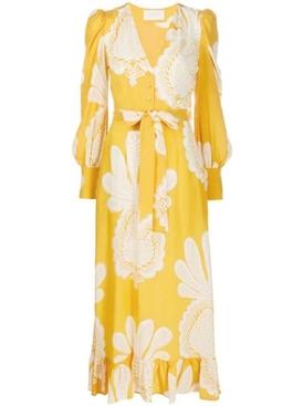 Yellow Big Pineapple Maxi Dress
