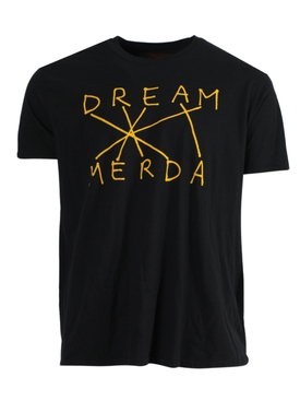 Dream Merda t-shirt BLACK YELLOW