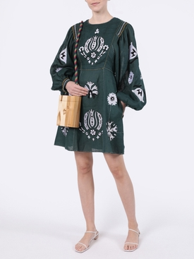 Jasmine Green Embroidered Dress