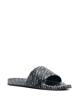 The Greca Flap Sandal BLACK AND GREY