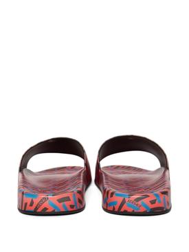 The Greca Flap Sandal ORANGE PEEL AND REGAL BLUE