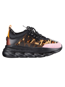 Mixed print chain reaction sneakers