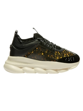 Medusa Print Chain Reaction Sneakers BLACK/ GOLD
