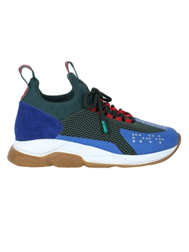 Multicolored cross chainer sneakers