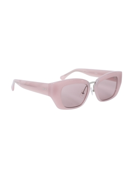 X Dries Van Noten Pink Frame Sunglasses