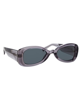 Grey oval tinted sunglasses
