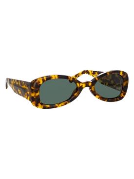 Tortoiseshell oval tinted sunglasses