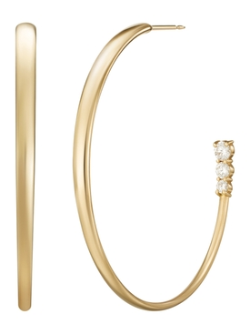 Gold Diamond Aria Hoop Large