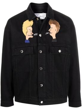 X Beavis and Butthead Denim Jacket Black