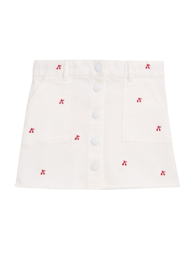 Kids Exie Cherry-Embroidered Skirt