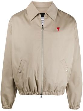 Ami de Coeur Zipped Jacket Beige