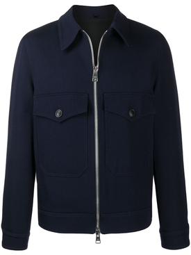 Classic Zipped Jacket Navy