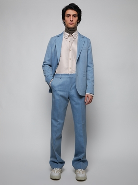 Half-lined two button jacket, sky blue