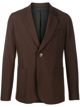 Half-lined two buttons jacket Marron