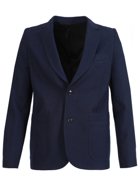 Half-lined two buttons jacket Navy