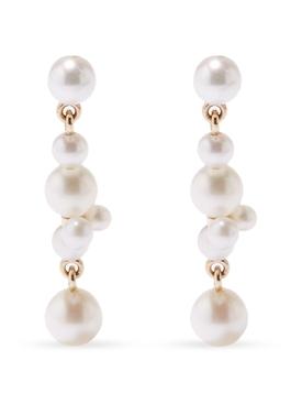 Holly Splash pearl earrings