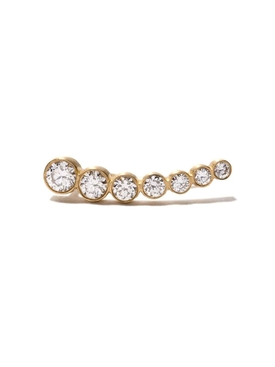 Gold and Diamonds Petite Croissant de Lune Earring