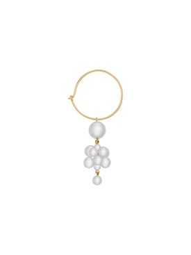 Botticelli Hoop Pearl Earring