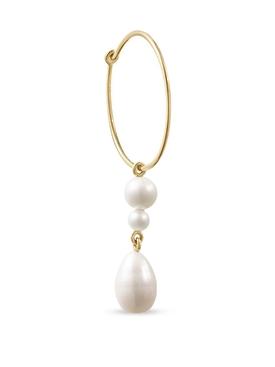L' Eau Hoop pearl single earring