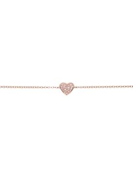 14KT DIAMOND HEART CHAIN BRACELET