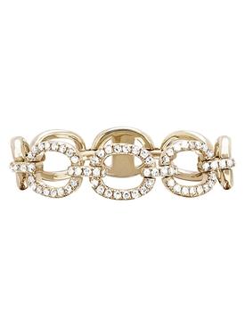 14KT HALF DIAMOND CHAIN LINK RING