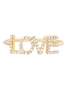 14KT DIAMOND LOVE RING (BLOCK LETTERS)
