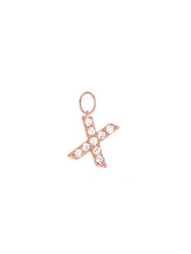 "14KT Diamond ""X"" Initial Huggie Charm"