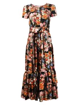 Elisa floral print midi dress