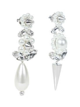 Pearl and Spike Earrings