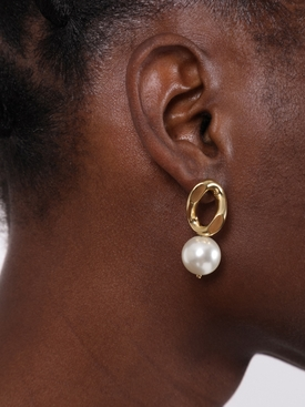 Baby pearl link earrings